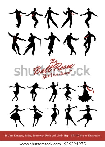 twenty jazz dancers swing
