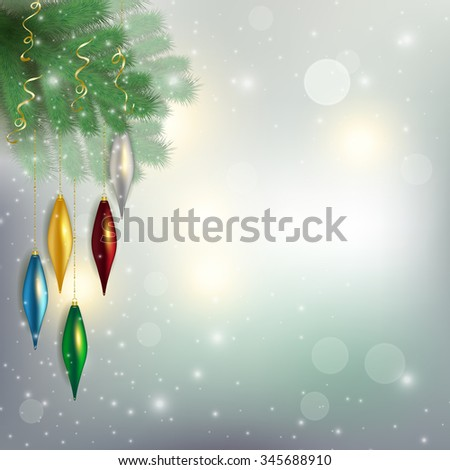 twigs of the tree with hanging