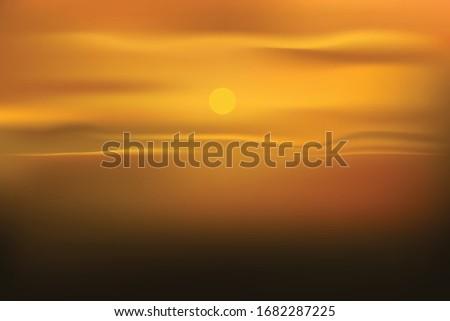 twilight sky sunset background