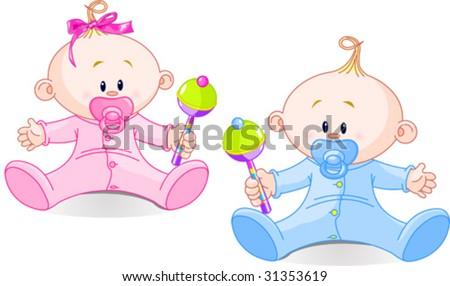 Twin Babies Vectors Download Free Vector Art Stock Graphics Images