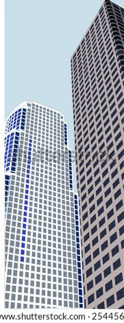Twin 3d Skyscrapers
