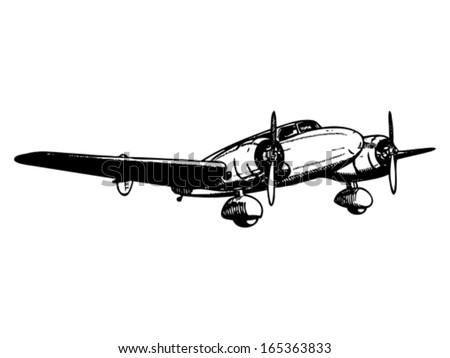 twin engine passenger plane....