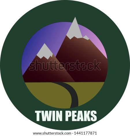 twin peaks emblem  a vector