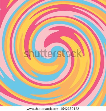 Twirl Twist paint Pastel colors abstract fluid backgrounds Yellow Purple Orange Swirl vortex vector background Stock foto ©