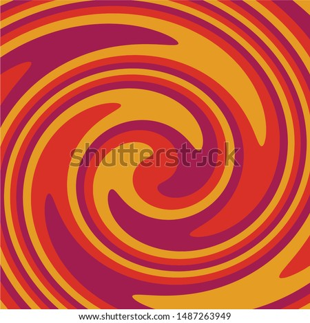Twirl Twist paint 70s Retro colors abstract fluid backgrounds Yellow Purple  Orange  Swirl vortex vector background