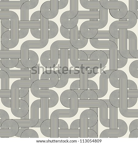 Twisted lines. Seamless abstract pattern. Vector illustration