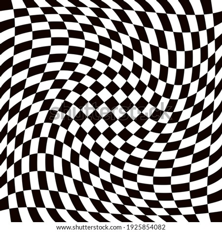 Twisted race flag. Twisted race pattern. Vector race twisted pattern.