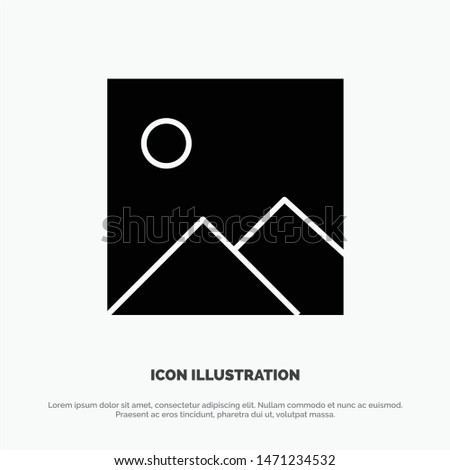 Twitter, Image, Picture solid Glyph Icon vector. Vector Icon Template background