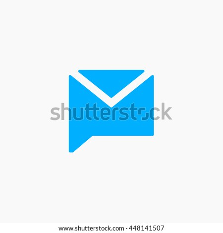 Twitter Messages Icon Vector, tweet new message, twt sign, flat image, illustration, logo, Twit UI element, User interface