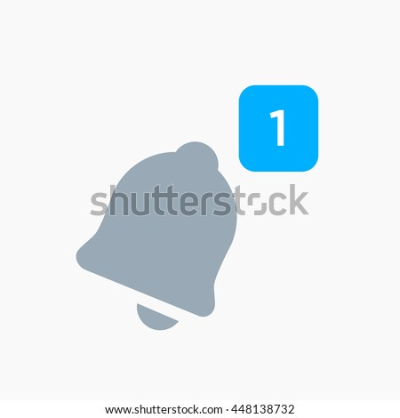 Twitter Notification icon vector, Material design, Social Media element, twt User Interface sign, EPS, twet UI, Image, Illustration, New message