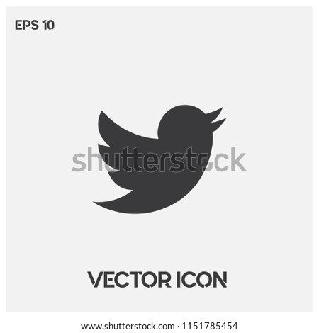 Twitter vector logo illustration.Flat twitter social media symbol icon.Premium quality.