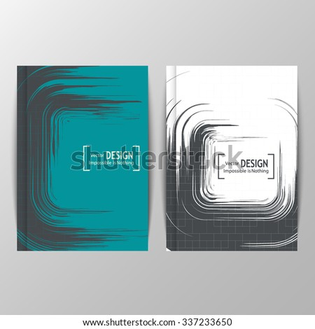 two abstract banners with brush
