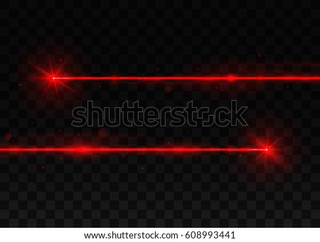 two abstract red laser beams