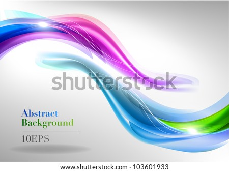 two abstract waves on the light background