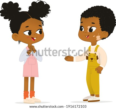 two african american children