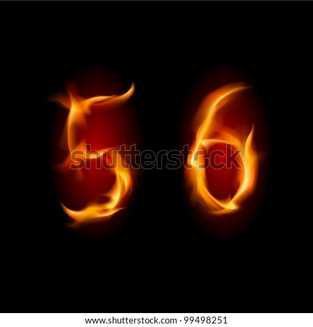 two alphabet symbol of fire