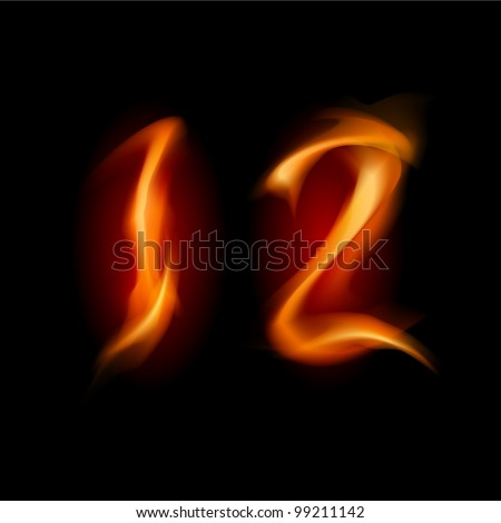 two alphabet symbol of fire