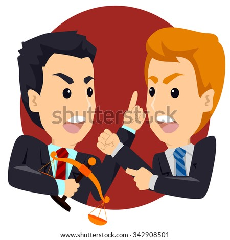two angry business man arguing