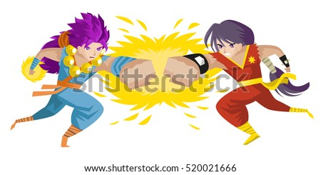 two anime fighters with