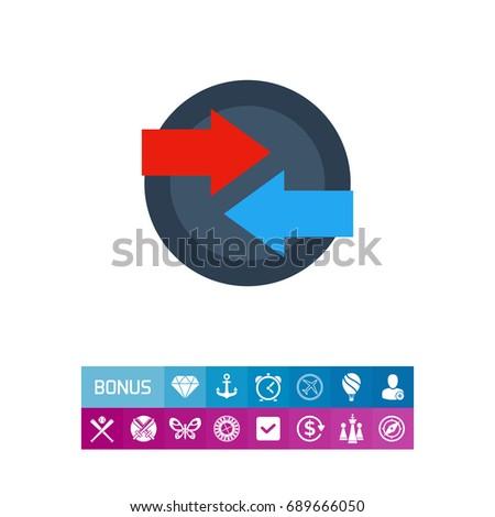 Two Arrows Sign Vector Icon