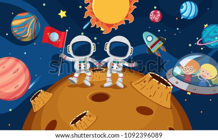 two astronaut explore the