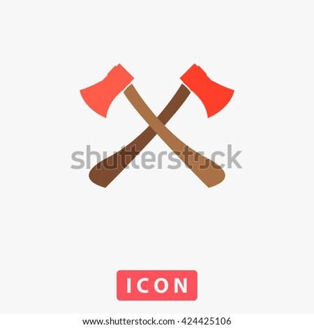 two axes icon vector two axes