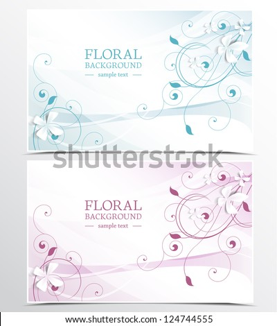 two background with floral design