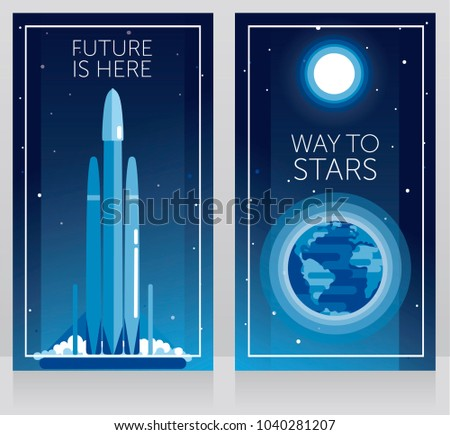 two banners for space travels