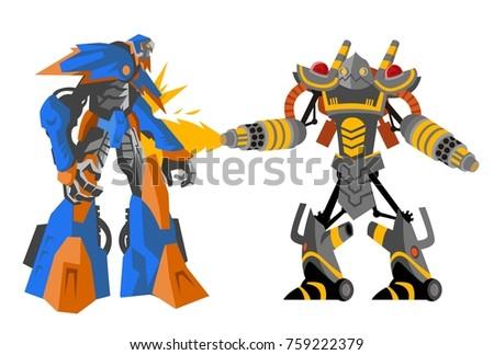 two battle robots