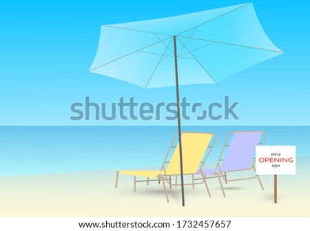 two beach chair and a blue
