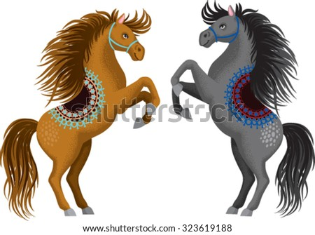 EPS Illustration - Wild horse head with flowing mane vintage sketch. Vector  Clipart gg85428405 - GoGraph