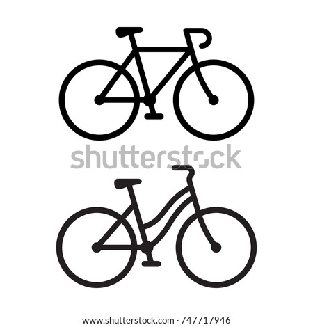 two bike silhouette icons