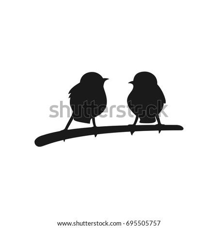 two bird vector logo