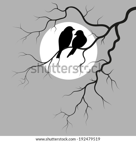 two birds is sitting on a branch
