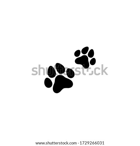 two black cat footprints  icon