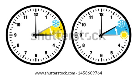 two black clocks summer time