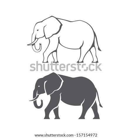 two black elephant silhouettes