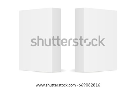 two blank cardboard boxes