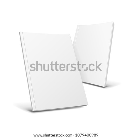 two blank covers of magazine