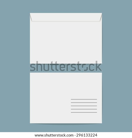 two blank envelopes with soft