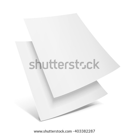two blank paper leaflet  flyer