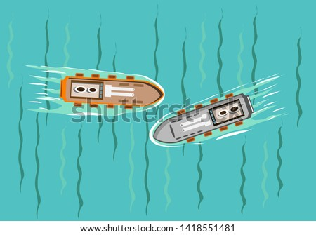 two boats avoided a near
