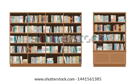 two bookcases full of books
