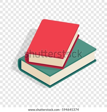 two books isometric icon 3d on