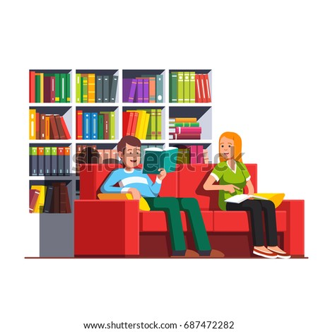 two bookworms family couple