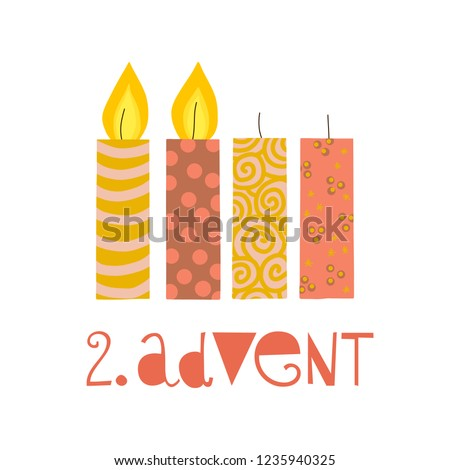 two burning advent candles