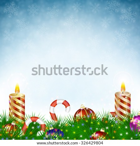 two burning christmas candles
