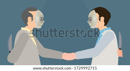 two business man in mask to