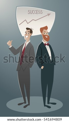 two business men proud of their ...