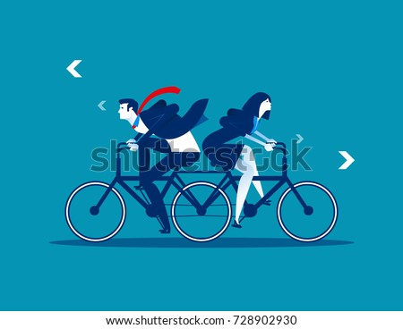 two business person riding the